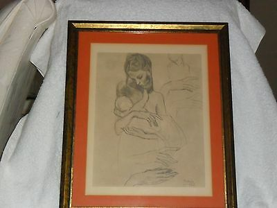 "PICASS0 ""women and  child"" PRINT"