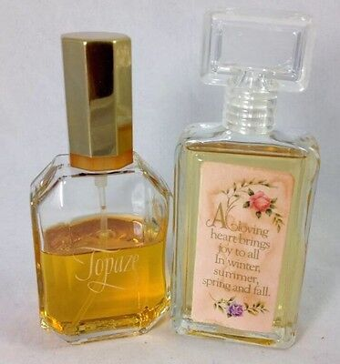Lot Of 2 Avon Scentiments Sweet Honesty Cologne Perfume 2oz & Topaze 2.7oz