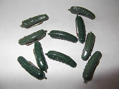 H J Heinz Pickle Pins!!!!  Lot Of 10 - Great Collectible - New Condition!!