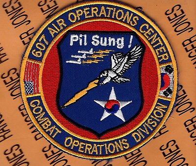USAF AIR FORCE 607th AOC Air Operations Center Combat Ops Div. patch