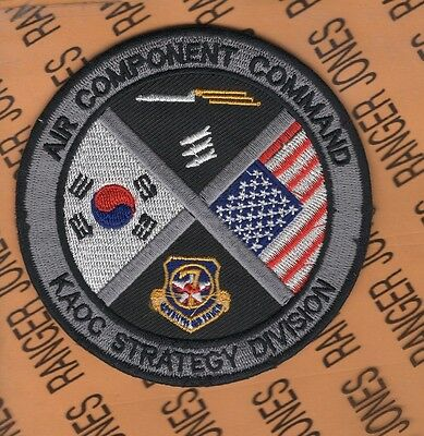 USAF AIR FORCE Air Component Command KAOC Strategy Division patch