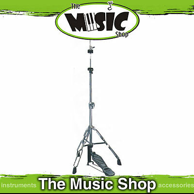 DXP Chrome Hi Hat Stand with Double Braced Legs - Height Adjustable Hihat Stand