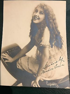 """Photo Bessie Love With Autograph  Early Photo """"1916"""""""