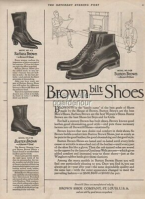 1921 Buster Brown Burton Barbara Vintage Shoes Boots 20s Fashion Style Print Ad