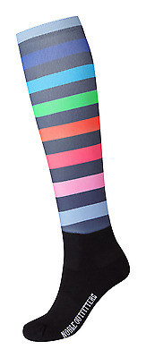 Noble Outfitters Over The Calf Womens Peddies Socks - Gradient Stripe