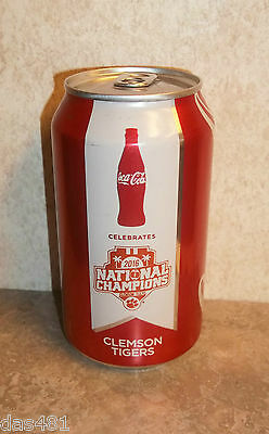 Clemson National Championship 2016 Coca Cola 1 Can Collectible