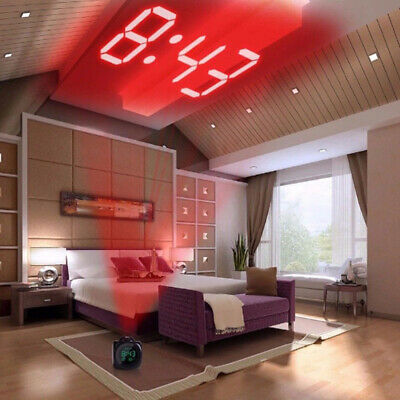 LCD Time Temp Diplay Alarm Clock Wall Projection Multifunctional Voice Talking