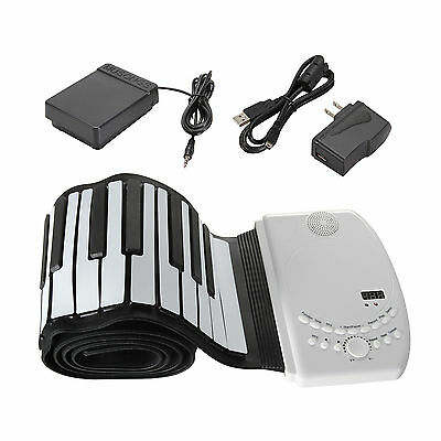 88 Keys Flexible Foldable Soft Portable Electric Digital Roll up Keyboard Piano