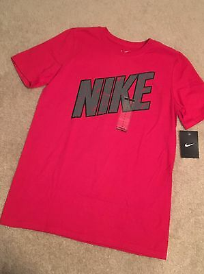 NWT Boys Nike Red Tee Shirt Top Size L Large