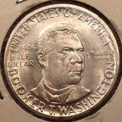 1946 50C Booker T. Washington Silver Commemorative. Uncirculated
