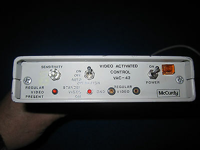 McCurdy VAC - 42 Video Activated Control