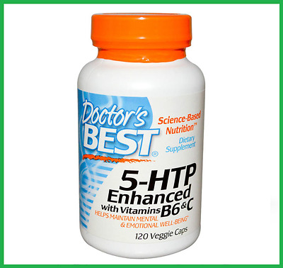 Doctor's Best 5-HTP 100mg 120 Veg Caps, with Vitamin B6 + C - HIGH POTENCY