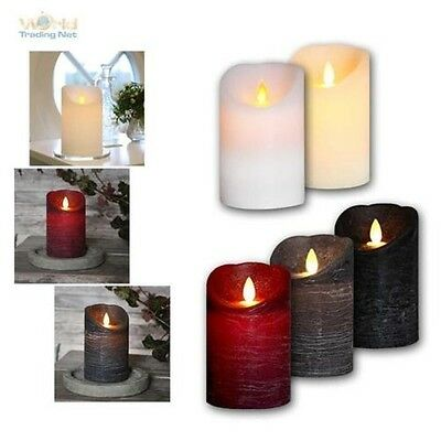 natural-wax LED candle with Timer & portable Flame, flameless flickering Candles