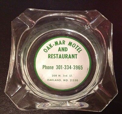 Oakland MD Maryland Oak-Mar Restaurant Ashtray Ash Tray Garrett County
