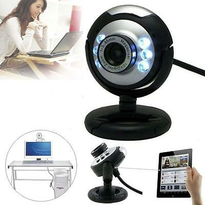 USB 12.0MP 6 LED Night Vision Webcam Video Camera Web Cam With Mic PC Laptop WI