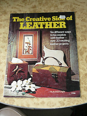 The Creative Side Of Leather Robbie Knight Booklet Craft Vintage 1976 Magazine