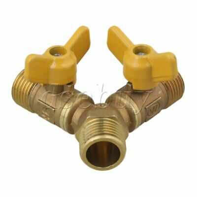 3 Way Solid Brass Y Valve Male Thread Hose Connector