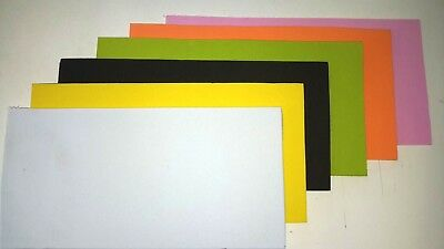 Fly tying foam Craft foam 2mm EVA Foam 10x20cm mix 4 sheets blackredorangeyellow