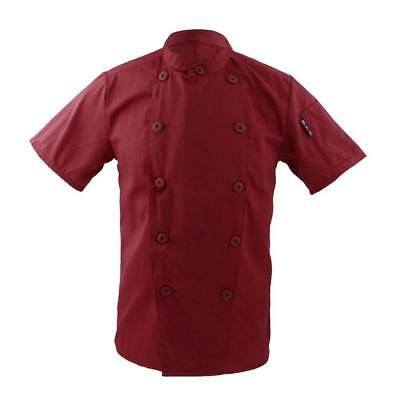 Five Star Chef Apparel Unisex Short Sleeve Button Chef Coat Catering Jackets