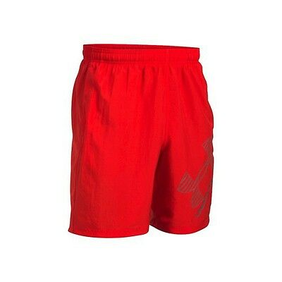 """Under Armour 8"""" Woven Graphic Shorts Rot 1286060-600"""