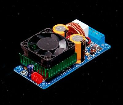 IRS2092S 500W Mono Channel Digital Amplifier Class D HIFI Power Amp Board +FAN M
