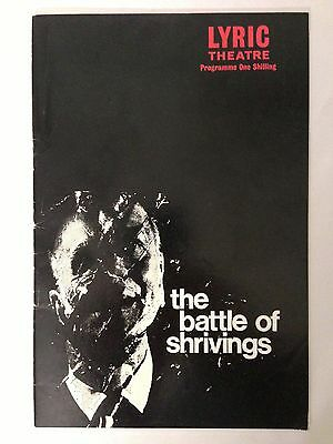 The Battle of Shrivings Lyric Theatre London 1970 Program Booklet