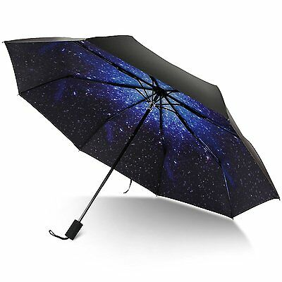 Rainlax Travel Umbrella Anti-UV Protection Canopy Parasol Sun& Rain Compact