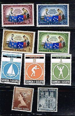 (11-464) 9 Mint   Postage sTamps from Samoa