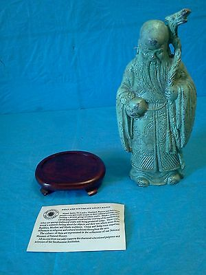 Vintage Chinese Tibet Bronze God Statue Figurine on Pedestal!!
