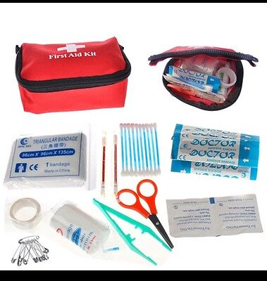 26 Piece First Aid Emergency Kit Car Bike Home Medical Camping Office Travel Bag