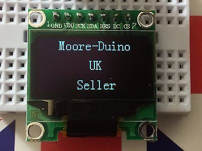 "1.3"" 128x64 IIC I2C SPI OLED Display Module for Arduino uno Mega etc White Blue"