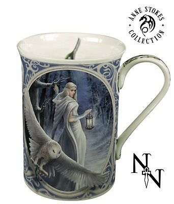 New Anne Stokes Midnight Messenger Bone China Mug Cup Gothic Fantasy Collectable