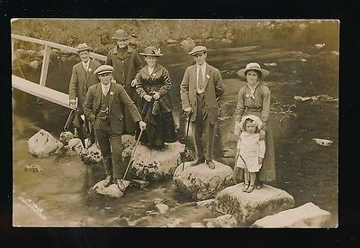 Wales Brecknockshire LLANWRTYD WELLS family group c1900/10s? RP PPC by H Mack