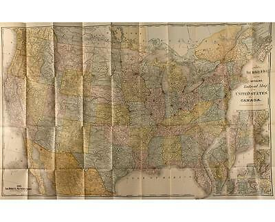1885 Rand McNally's Official Railroad Map of the United State & Canada