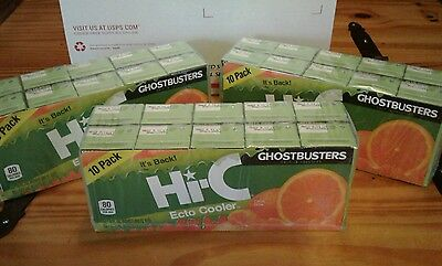 Hi-C Ecto Cooler Juice Boxes 3 x 10 Packs RARE Limited Edition -  FREE SHIPPING