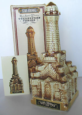 1871 Great Chicago Fire Famous Water Tower Fire Survivor Brooks Decanter + Box
