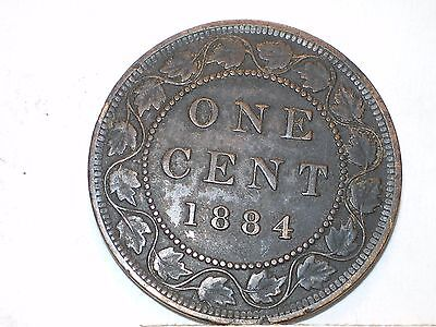 1884 Canada Large Cent circulated