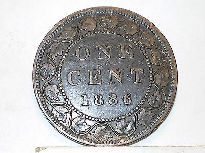 1886 Canada Large Cent circulated