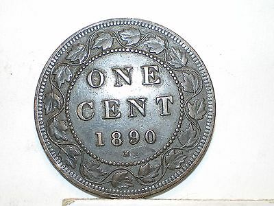 1890H Canada Large Cent circulated