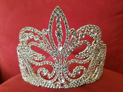 WOW L@@k at Tremendous Bridal Pageant Wedding Quinceanera Prom Crown Rhinestone