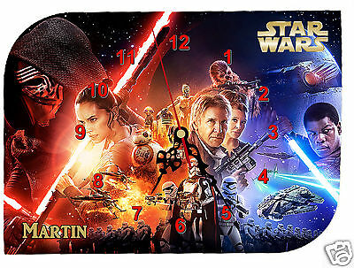 clock wall clock star wars to customize first name to choose ref F010