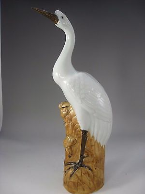 A Large19/20th Century Chinese Crane Statue