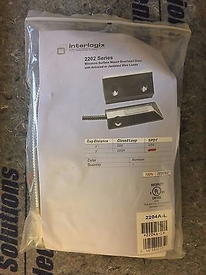 Utc Interlogix 2204A-L Surface Mount Overhead Door Contact Armored Jacketed