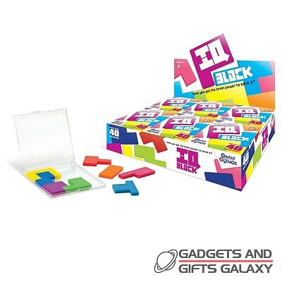 IQ BLOCK PUZZLE NEEDS BRAIN POWER! CHALLENGING toy gift novelty adults childs