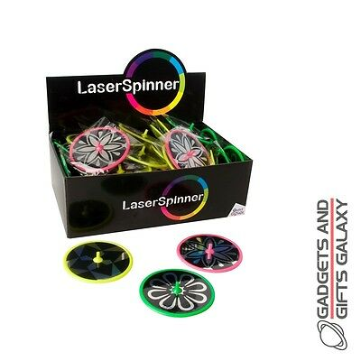 LARGE LASER SPINNER ass colours great party bag filler toy gift chlds kids