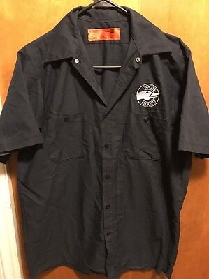 GOOSE ISLAND BEER BREWERY Chicago ~ Mens MED~ Delivery Work Shirt Bourbon County