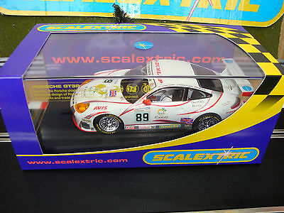 C2730 NEW BOXED SCALEXTRIC PORSCHE 911 GT3R TEAN SEBAH No89 WITH LIGHTS