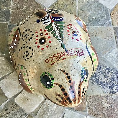 """Large Hand Painted Stone Rock Frog Paperweight Figurine Garden 6"""""""