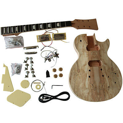 Coban DIY electric guitar kits, GD710 1 Solid Mahogany body with Spalted Maple