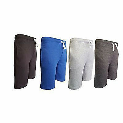 Boys Kids New Summer Elasticated Fleece PolyCotton Shorts Children 7-15 years